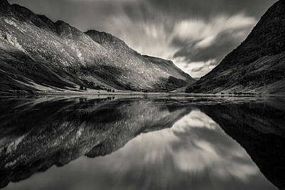 Photograph - Loch Achtriochtan Reflection by Dave Bowman
