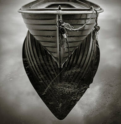 Photograph - Boat Reflection by Dave Bowman