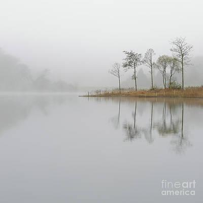 Loch Ard Misty Sunrise Art Print by Maria Gaellman