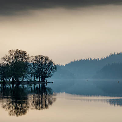 Photograph - Loch Ard Reflection by Dave Bowman