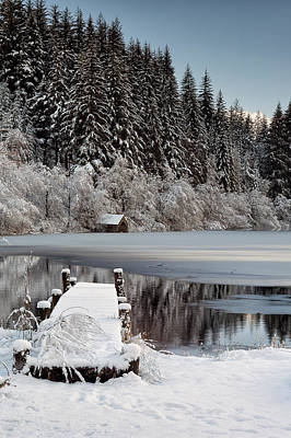 Photograph - Loch Ard Winter View by Grant Glendinning