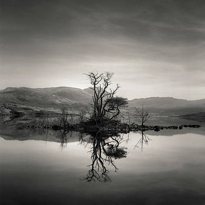 Photograph - Loch Assynt Reflection by Dave Bowman