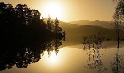 Glen Affric Photograph - Loch At Sunset by Blythe Storm