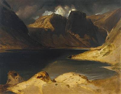 Landseer Painting - Loch Avon And The Cairngorm Mountains by Edwin Henry Landseer