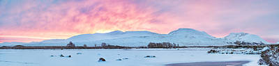 Colourfull Photograph - Loch Ba Panoramic Sunrise by Grant Glendinning
