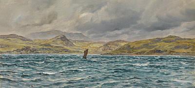 Scotland Painting - Loch Beag, Skye by John Brett