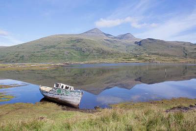 Photograph - Loch Beg Reflections by Peter Walkden