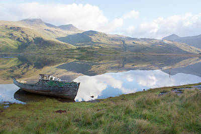 Photograph - Loch Beg Reflects by Peter Walkden