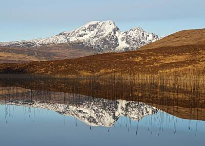 Photograph - Loch Cill Chriosd Winter Reflections by Stephen Taylor