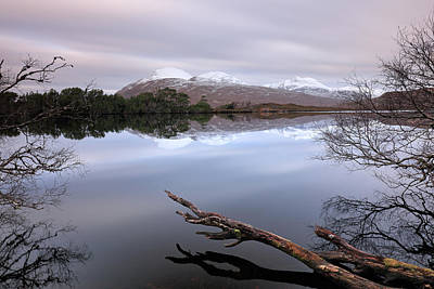 Photograph - Loch Cul Dromannan Reflections by Grant Glendinning
