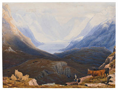 Art Ross Drawing - Loch Duich And The Mountains Of Glen Shiel. Ross-shire. Scotland by William Turner of Oxford