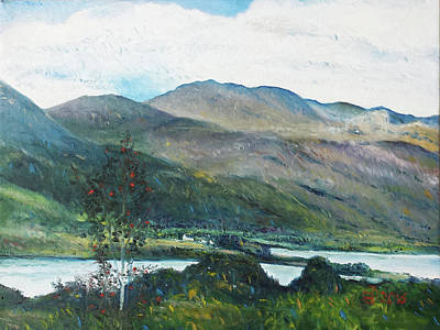 Painting - Loch Dun Luiche Donegal Ireland 2916 by Enver Larney