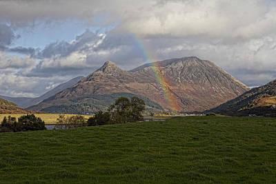 Loch Eilde Mor Rainbow Art Print by Jim Dohms