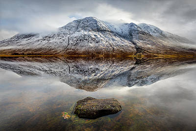 Beautiful Scenery Photograph - Loch Etive Reflection by Dave Bowman