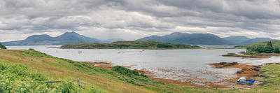 Photograph - Loch Hourn And The Isle Of Skye by Ray Devlin