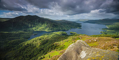 Photograph - Loch Katrine From Ben A'an, Loch Lomond And The Trossachs Nation by Neil Alexander