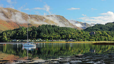 Print featuring the photograph Loch Leven Glencoe by Grant Glendinning