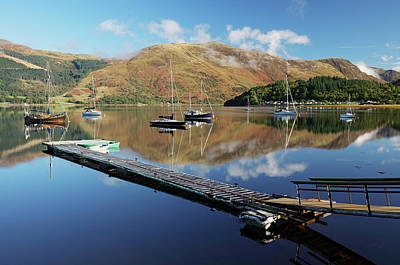 Photograph - Loch Leven  Jetty And Boats by Grant Glendinning
