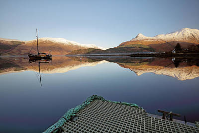 Photograph - Loch Leven Reflection by Grant Glendinning