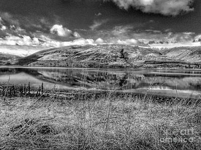 Photograph - Loch Linnhe Reflections In Greyscale by Joan-Violet Stretch