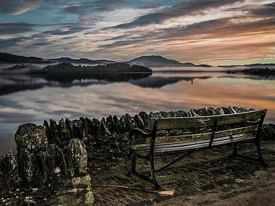 Photograph - Loch Lomand Sunrise Scotland by Alex Saunders