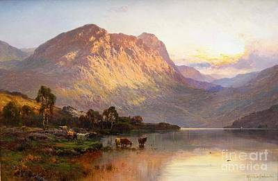 Loch Lomond And A Trout Stream Near Stirling Art Print