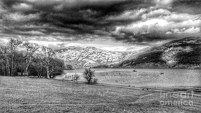 Photograph - Loch Lomond At Tarbet In Greyscale by Joan-Violet Stretch