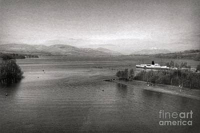 Photograph - Loch Lomond In Vintage Greyscale  by Joan-Violet Stretch