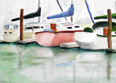 Painting - Loch Lomond Marina, B Dock2 by Tom Simmons
