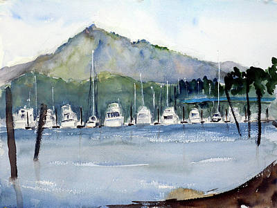 Painting - Loch Lomond Marina by Tom Simmons