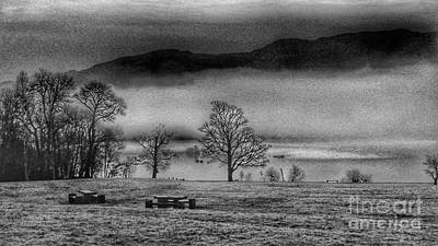 Photograph - Loch Lomond Mists In Greyscale by Joan-Violet Stretch