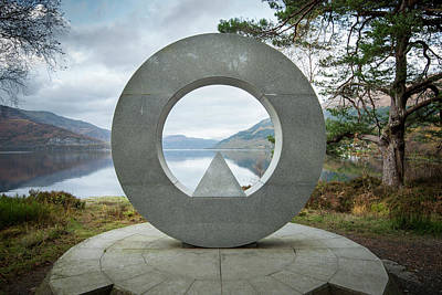 Photograph - Loch Lomond National Park Memorial Sculpture by Alex Saunders