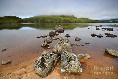 Scottish Highlands Wall Art - Photograph - Loch Nah Achlaise by Smart Aviation