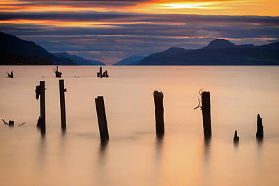Photograph - Loch Ness Sunset by John Frid