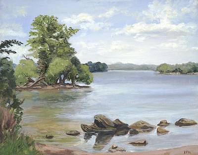 Wall Art - Painting - Loch Raven by Katherine Farrell