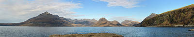 Scotland Photograph - Loch Scavaig And The Cuillins - Panorama by Maria Gaellman