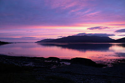 Photograph - Loch Scridain Sunset by Peter Walkden