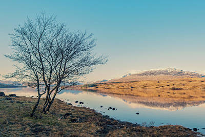 Photograph - Loch Tulla Ice by Ray Devlin