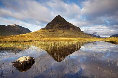 Photograph - Lochan Na Fola Reflections by Stephen Taylor
