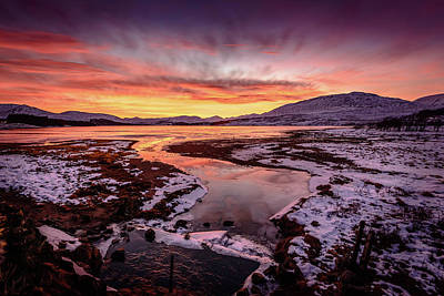 Photograph - Lochan Na H-achlaise, Twilight by Peter OReilly