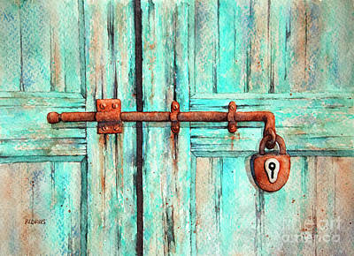 Painting - Lock And Key by Rebecca Davis