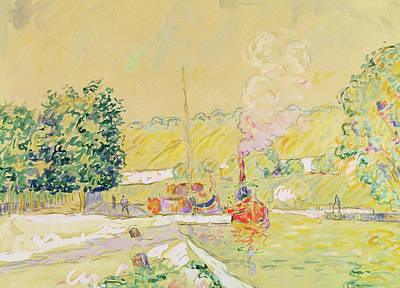 Keeper Painting - Lock At Sannois by Paul Signac