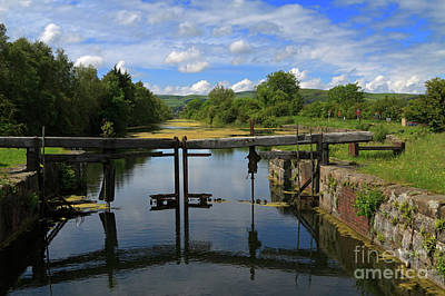 Lock Gates On The Old Canal Art Print by Louise Heusinkveld