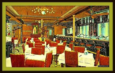Locke- Ober Cafe And Restaurant, Boston Ma, 1910 Art Print