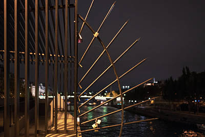 Photograph - Lock On The Seine, Paris by Jean Gill