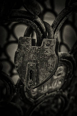 Photograph - Lock by Roland Peachie