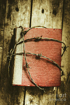 Barbwire Photograph - Locked Diary Of Secrets by Jorgo Photography - Wall Art Gallery