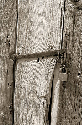 Locked Door Art Print by Pat Carosone