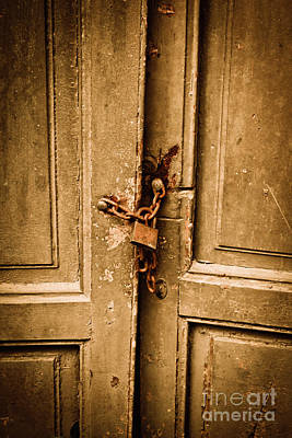 Entrance Door Photograph - Locked by Gabriela Insuratelu