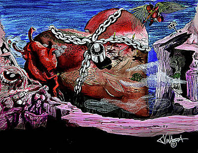 Painting - Locked Heart Island by eVol i